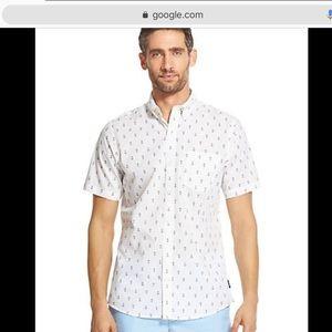 Breeze Anchor Short-Sleeve Button-Down Shirt